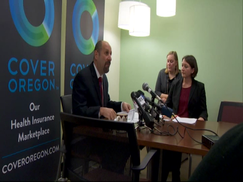 Cover Oregon press conference – Dr. Bruce Goldberg